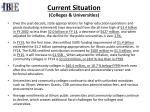 current situation colleges universities1