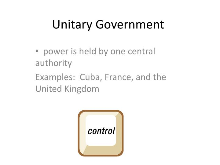 france unitary government