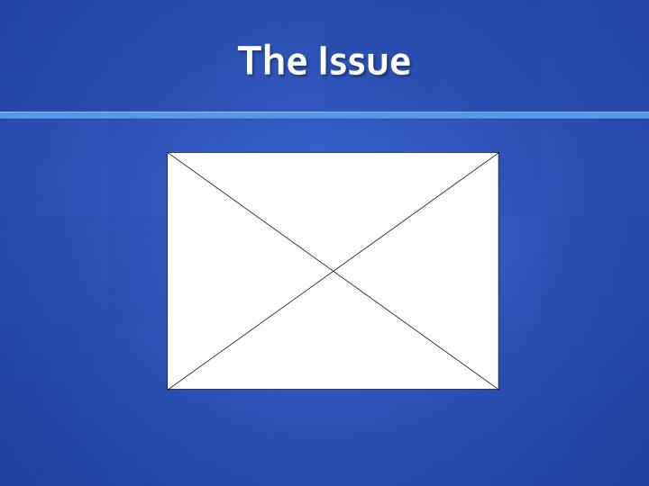 The issue