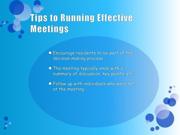 Tips to Running Effective Meetings