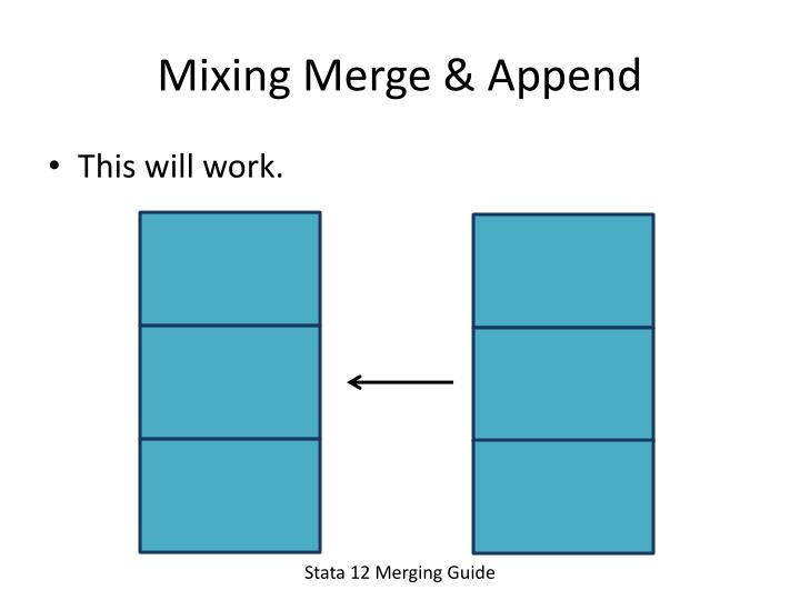 Mixing Merge & Append