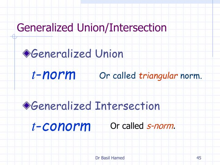 Generalized Union/Intersection