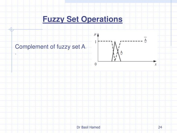 Fuzzy Set Operations