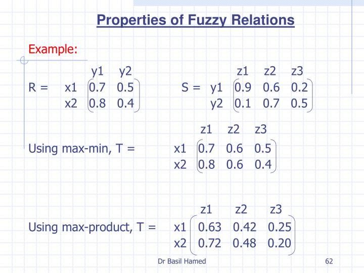 Properties of Fuzzy Relations