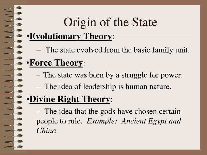Origin of the State