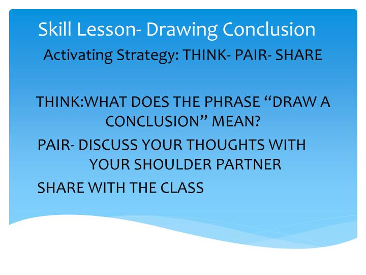 Ppt Skill Lesson Drawing Conclusion Powerpoint