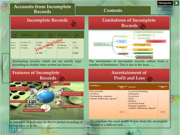 PPT Accounts From Incomplete Records PowerPoint