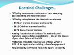 doctrinal challenges1