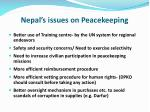 nepal s issues on peacekeeping1