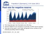 pool size for negative reserve