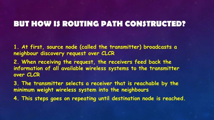 But how is routing path constructed?