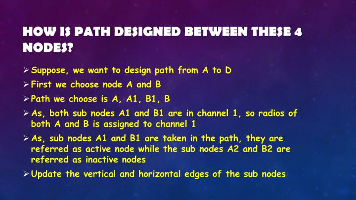 How is path designed between these 4 nodes?