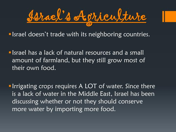 Israel's Agriculture