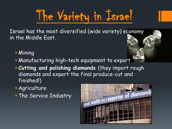 The Variety in Israel