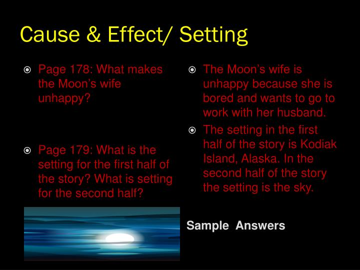 Cause & Effect/ Setting
