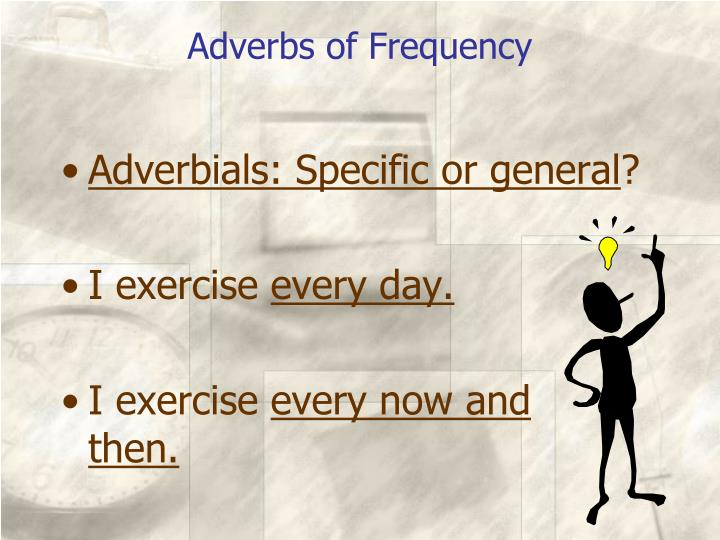 Adverbs of Frequency