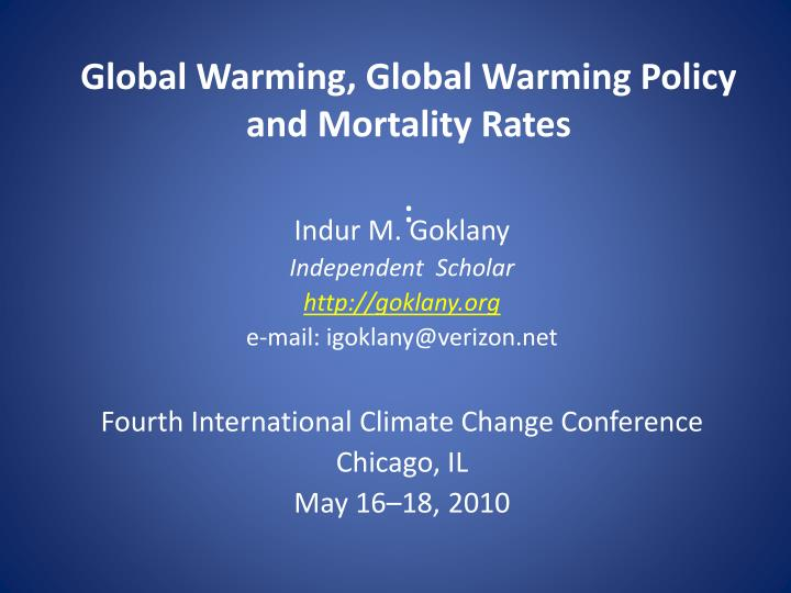 global warming is a political issue