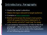 introductory paragraphs1