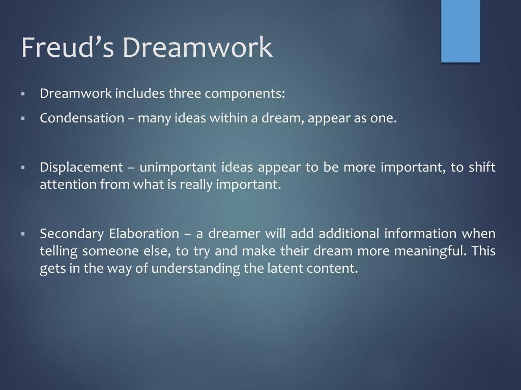 PPT - Freud's Dreamwork PowerPoint Presentation, free ...