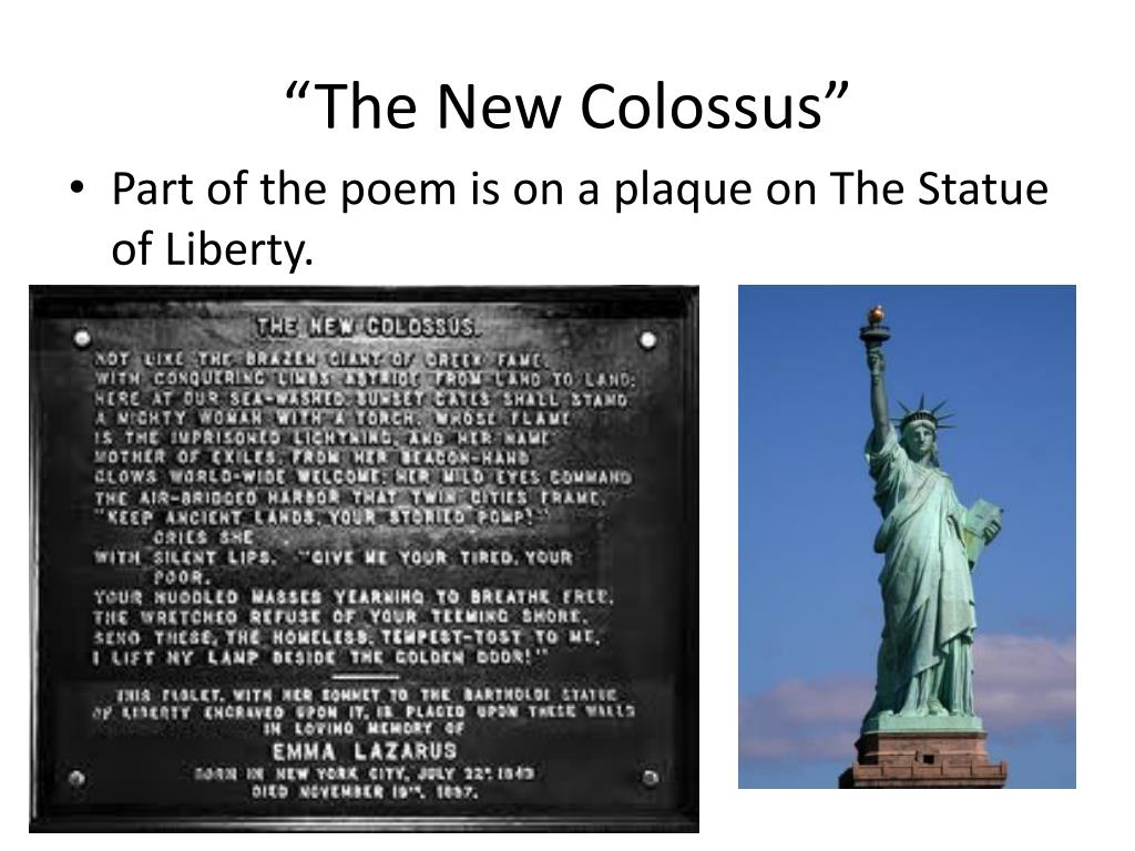 Ppt The New Colossus Powerpoint Presentation Free