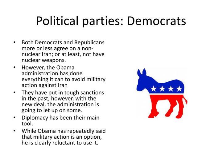 Political parties: Democrats