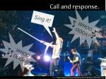 call and response1