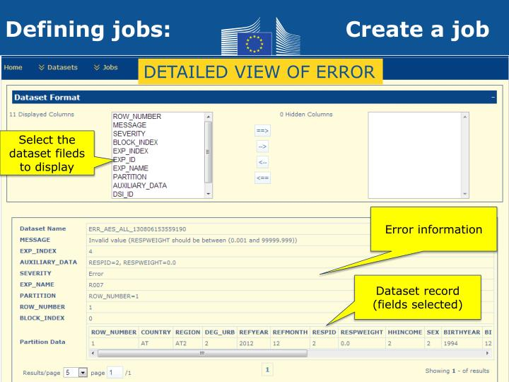 DETAILED VIEW OF ERROR