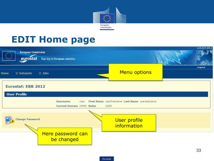 EDIT Home page