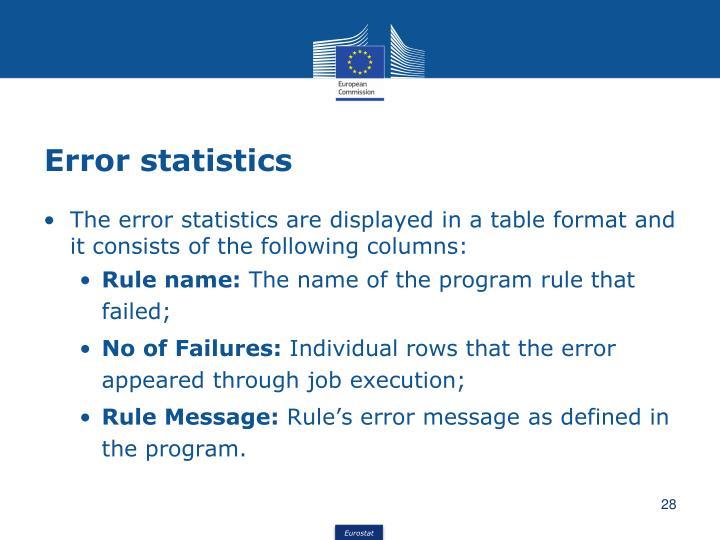 Error statistics
