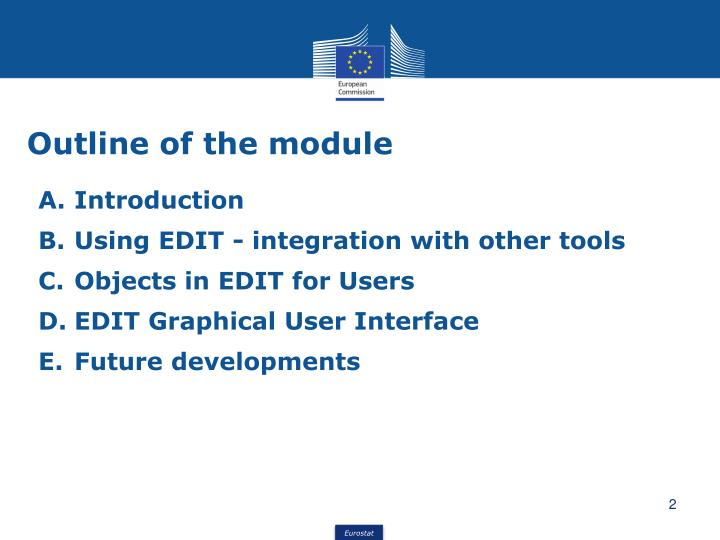 Outline of the module