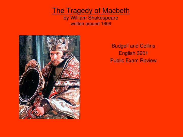 an overview of the aristotelian tragedy in macbeth a play by william shakespeare