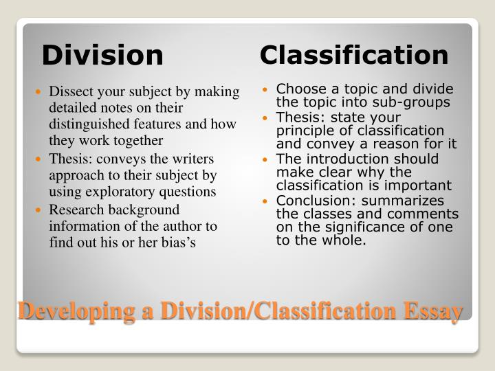 Ppt  Divisionclassification Powerpoint Presentation  Id Developing A Divisionclassification Essay