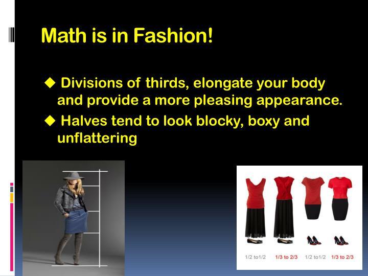 Math is in Fashion!