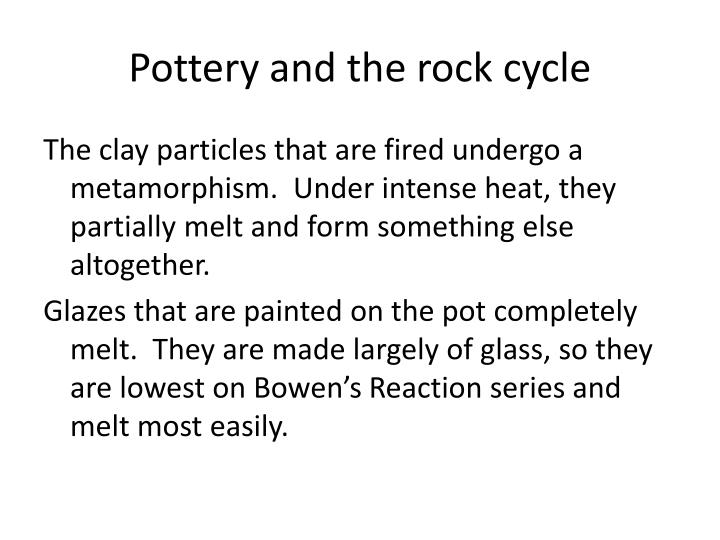 Pottery and the