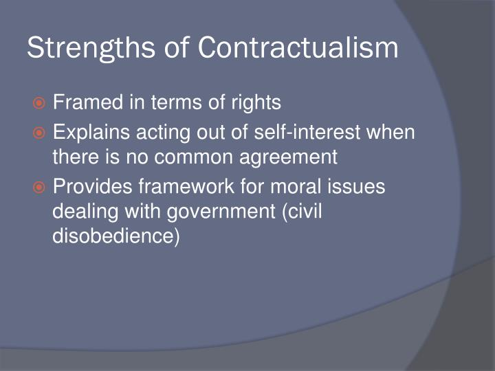 Strengths of Contractualism