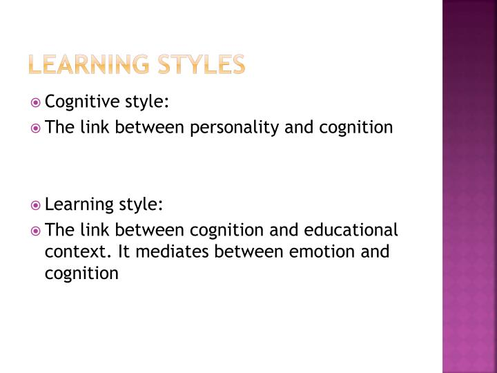 cognitive styles