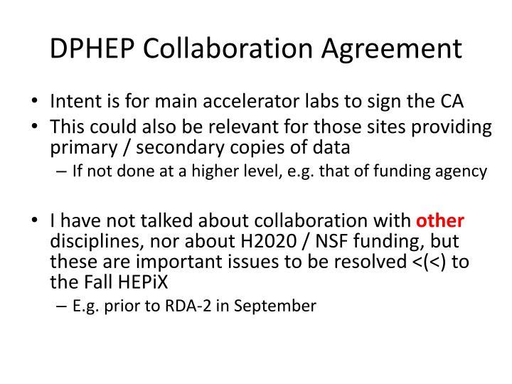 DPHEP Collaboration Agreement