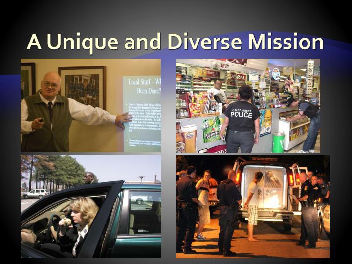 A Unique and Diverse Mission
