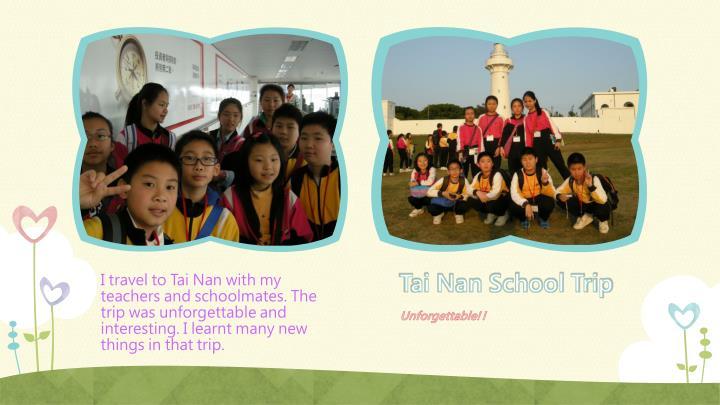 Tai Nan School Trip