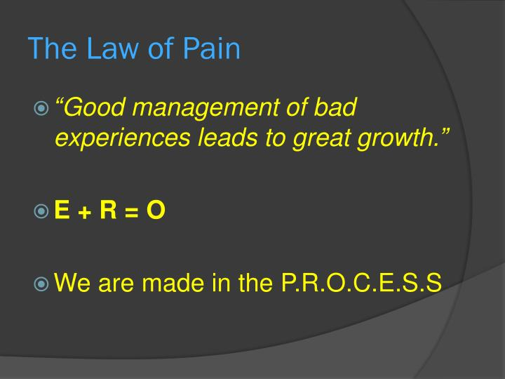 The Law of Pain