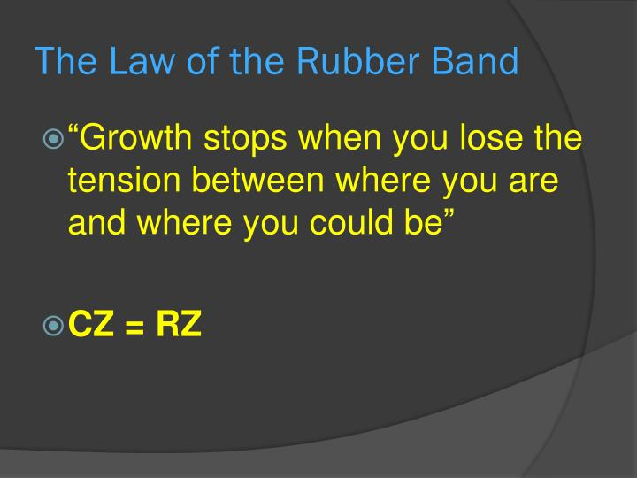 The Law of the Rubber Band