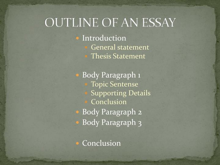 Outline of an essay