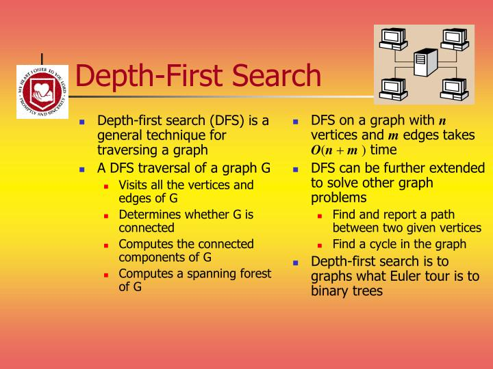 Depth-first search (DFS) is a general technique for traversing a graph