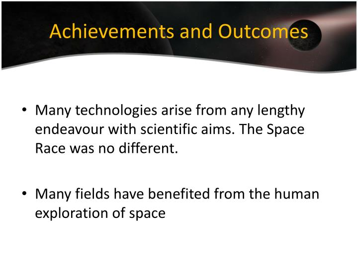 Achievements and Outcomes