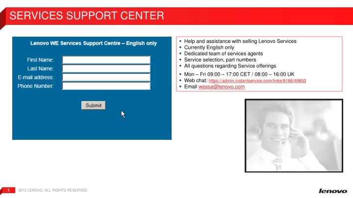 Services Support Center
