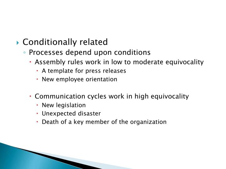 Conditionally related
