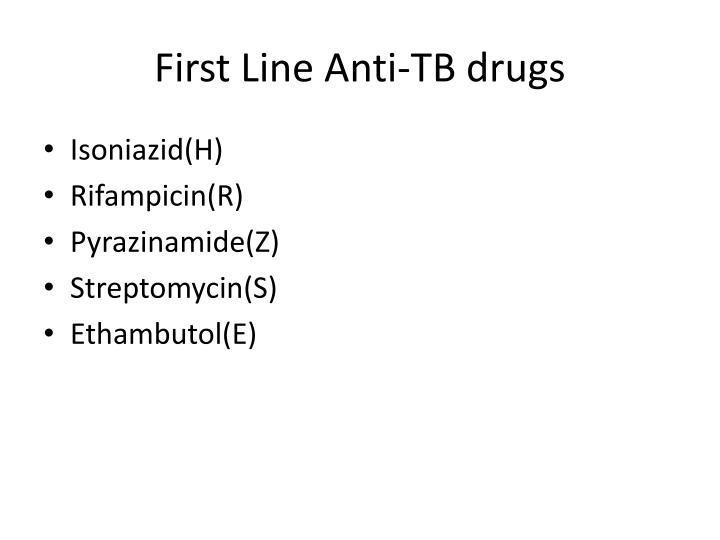 First Line Anti-TB drugs