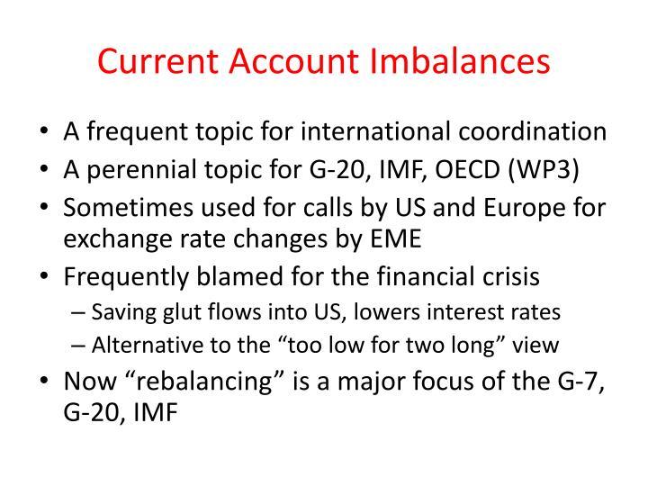 Current account imbalances