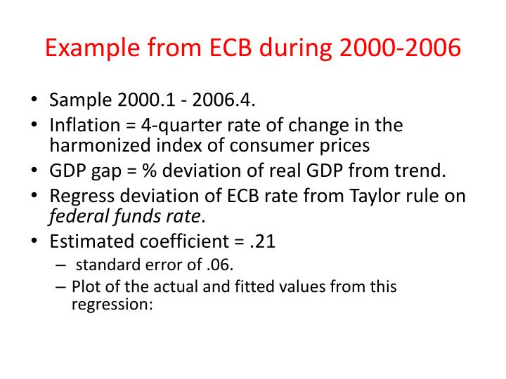 Example from ECB