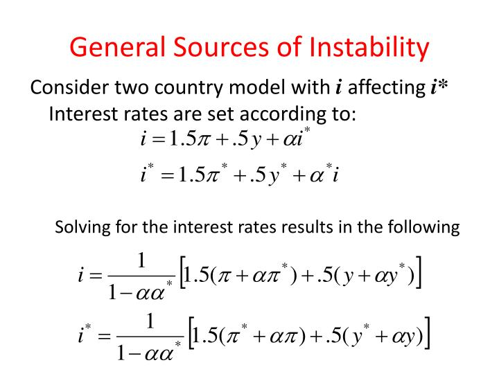 General Sources of Instability